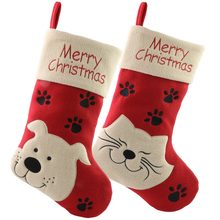 b5f33c0aa87 Free Shipping 2pcs lot Christmas Pet Stockings Gift Socks Bags with Merry  Christmas