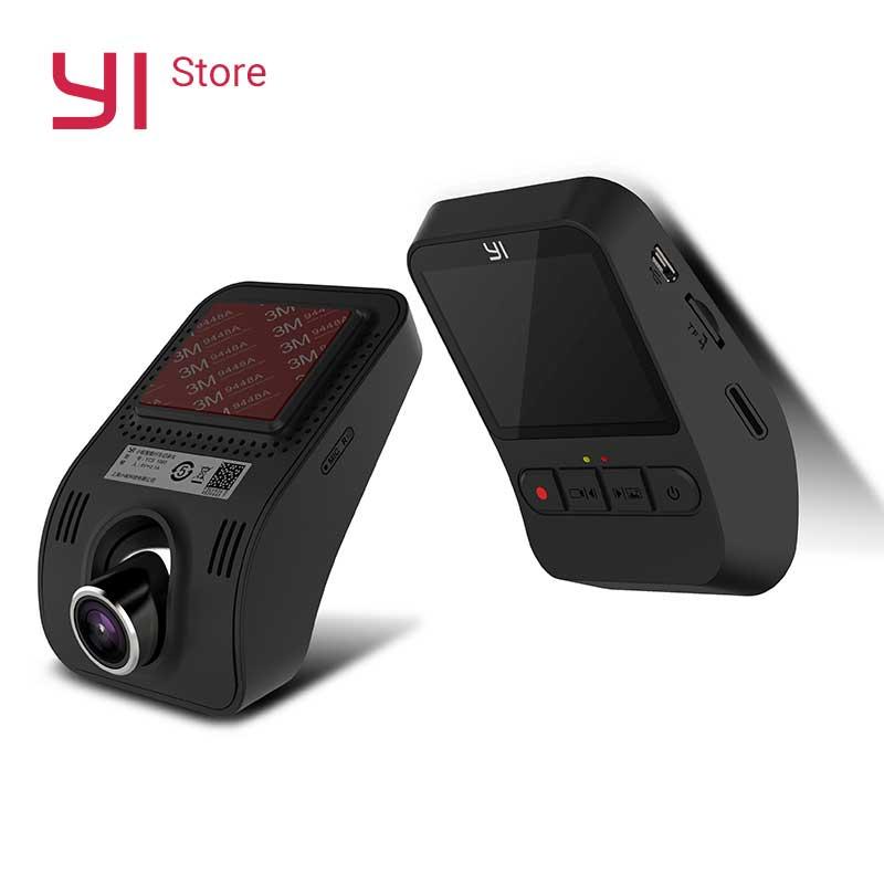 YI Mini Câmera Traço HD 1080 p 140 Grande-angular de Gravação de Vídeo Wi-fi 2.0 ''Tela LCD Embutido Grande abertura Versão Internacional
