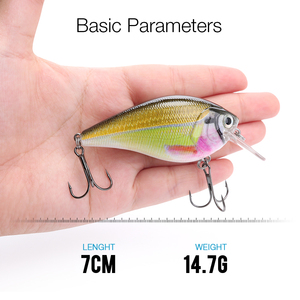 Image 2 - 7cm 15g Top Quality Swimbait Crankbait Fishing Lure Hard Bait with 3D Eyes Japan Floating Popper Fishing Wobblers Croatian Egg