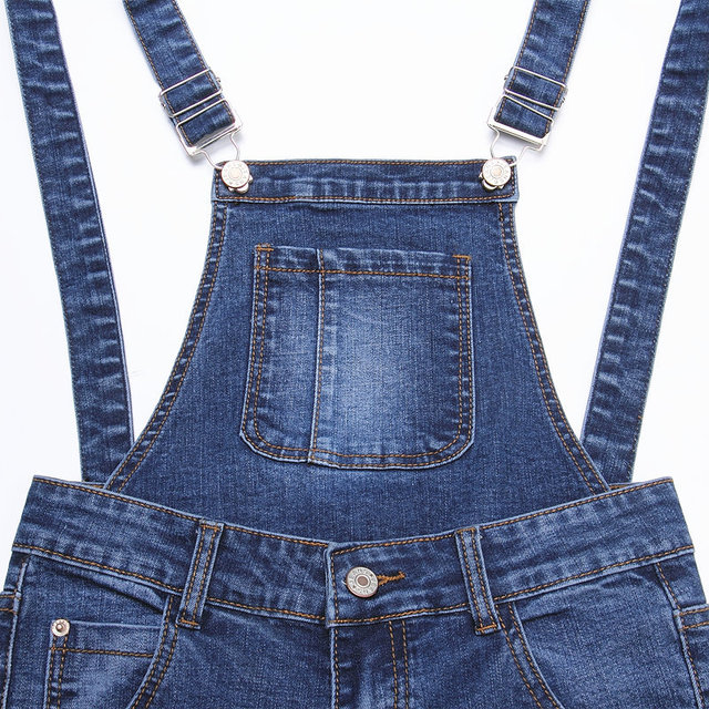 Womens Jumpsuit Denim Overalls Pants 2016 Casual Ripped Hole Slim Pencil Pants Ripped Pockets Jeans Coverall