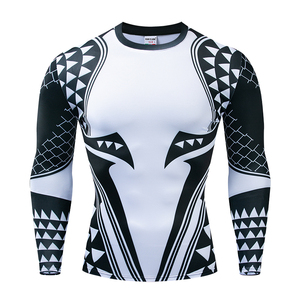 Image 3 - Aquaman Compression Shirt Man 3D Printed T shirts Men 2019 Newest Comics Cosplay Costume Long Sleeve Tops For Male Fitness Cloth