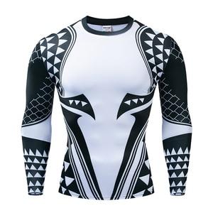 Image 3 - Aquaman camisa de compressão homem 3d impresso t camisas dos homens 2019 mais novo comics cosplay traje manga longa topos para o sexo masculino fitness pano
