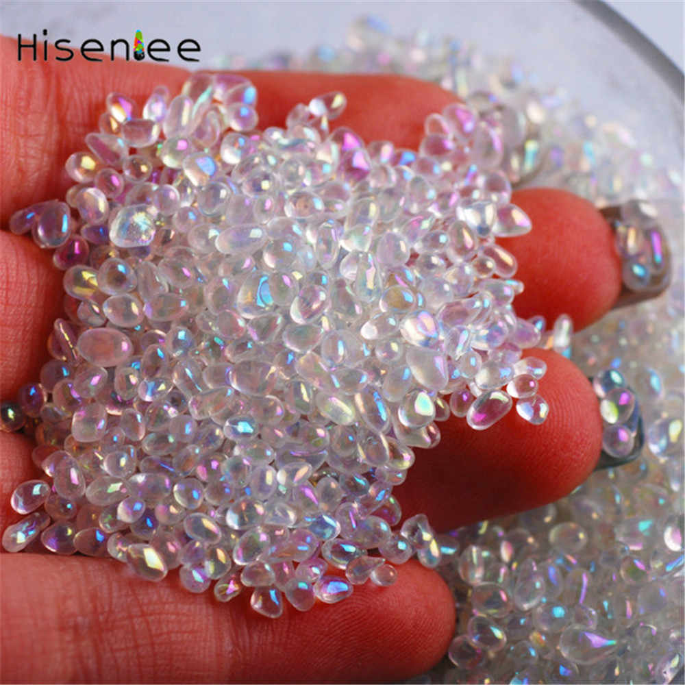 Chameleon Gradual Change Nail Glass Stone 20g/Pack Small Irregular 2 Colors Magic Mini Studs Beads Manicure 3D Nail Art Decorate