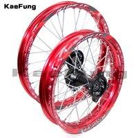 12mm 15mmFront 1.40 14 inch Rear 1.85 12 inch Alloy Wheel Rim For KAYO HR 160cc TY150CC Dirt Bike Pit bike 12 14 inch wheel