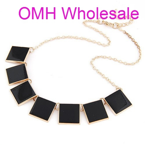 1 PCS 2013 NEW Europe StyleTide Retro Style big shop sign hang drop glaze pure color geometry shape sweater necklaces XL650
