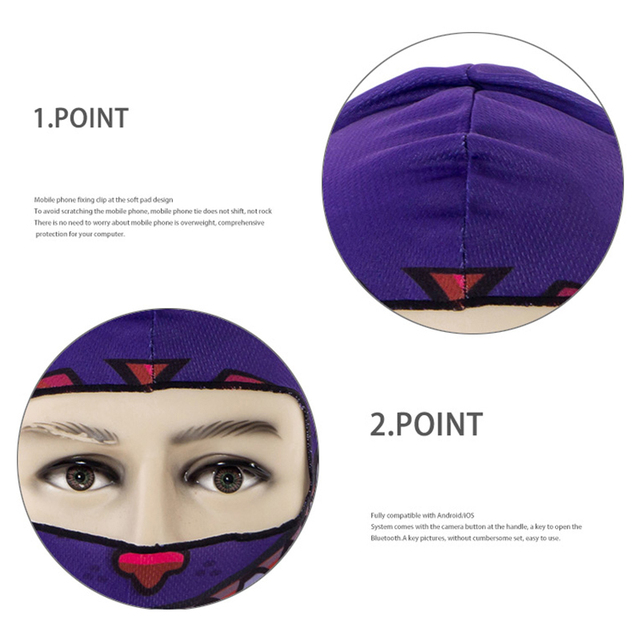 1pcs 3D Outdoor Sport Creative Mask Anti-UV Bicycle Riding Face Scarf Scarves Breathable Headband Protect Full Face Mask 1