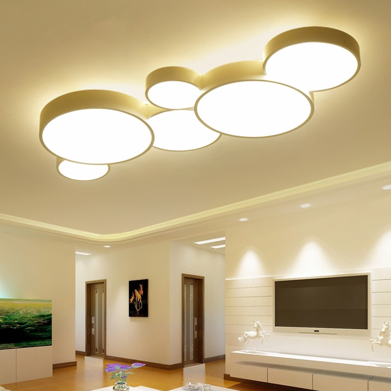 US $180.0 20% OFF|LED Ceiling lights Iron fixtures children bedroom Ceiling  lamps Modern luminaires home illumination living room Ceiling lighting-in  ...