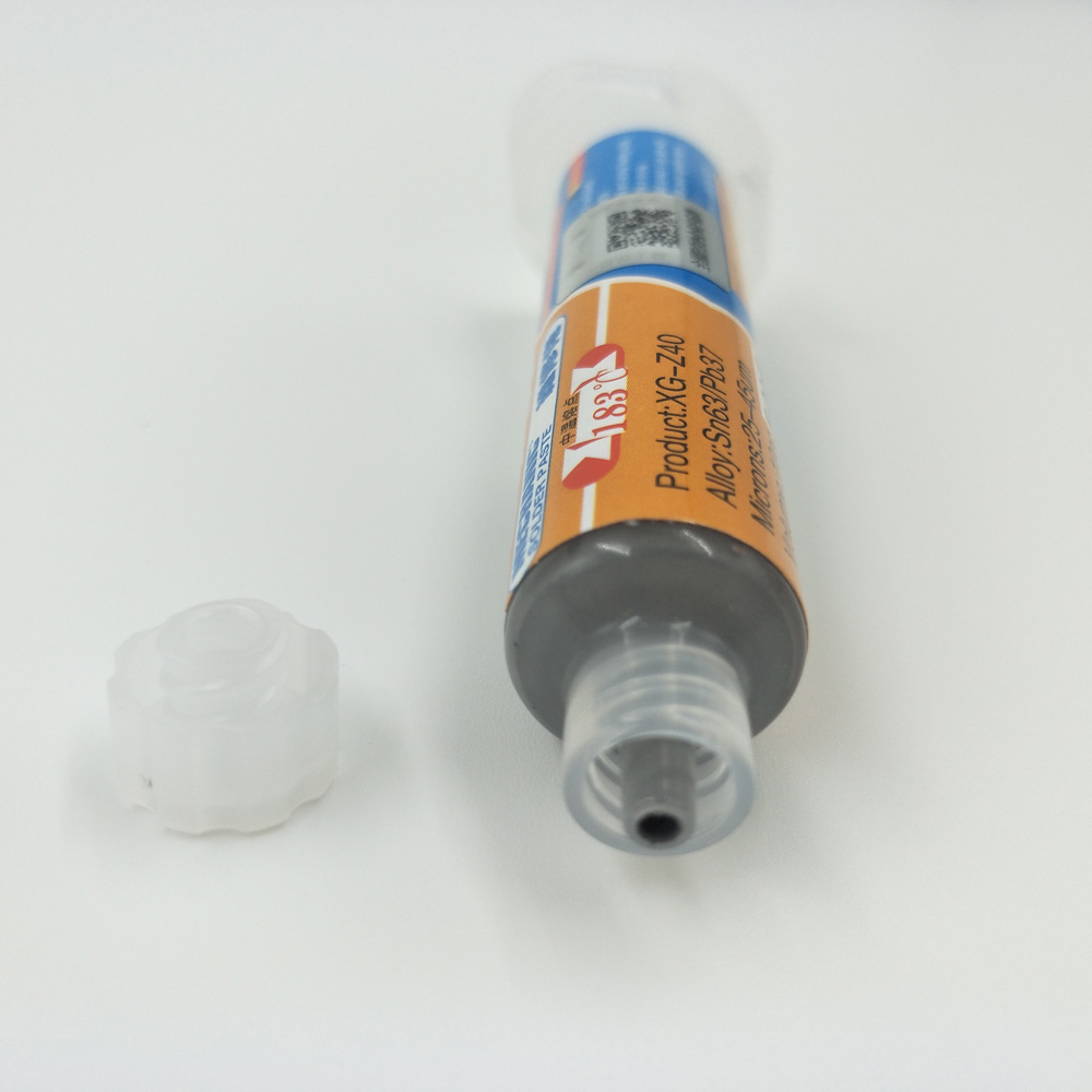 XG-Z40 Solder Paste Flux 2pcs 10CC Mechanic Tin Sn63/Pb37 25-45um Syringe For PCB SMD Mobile Phone Repair XG z40