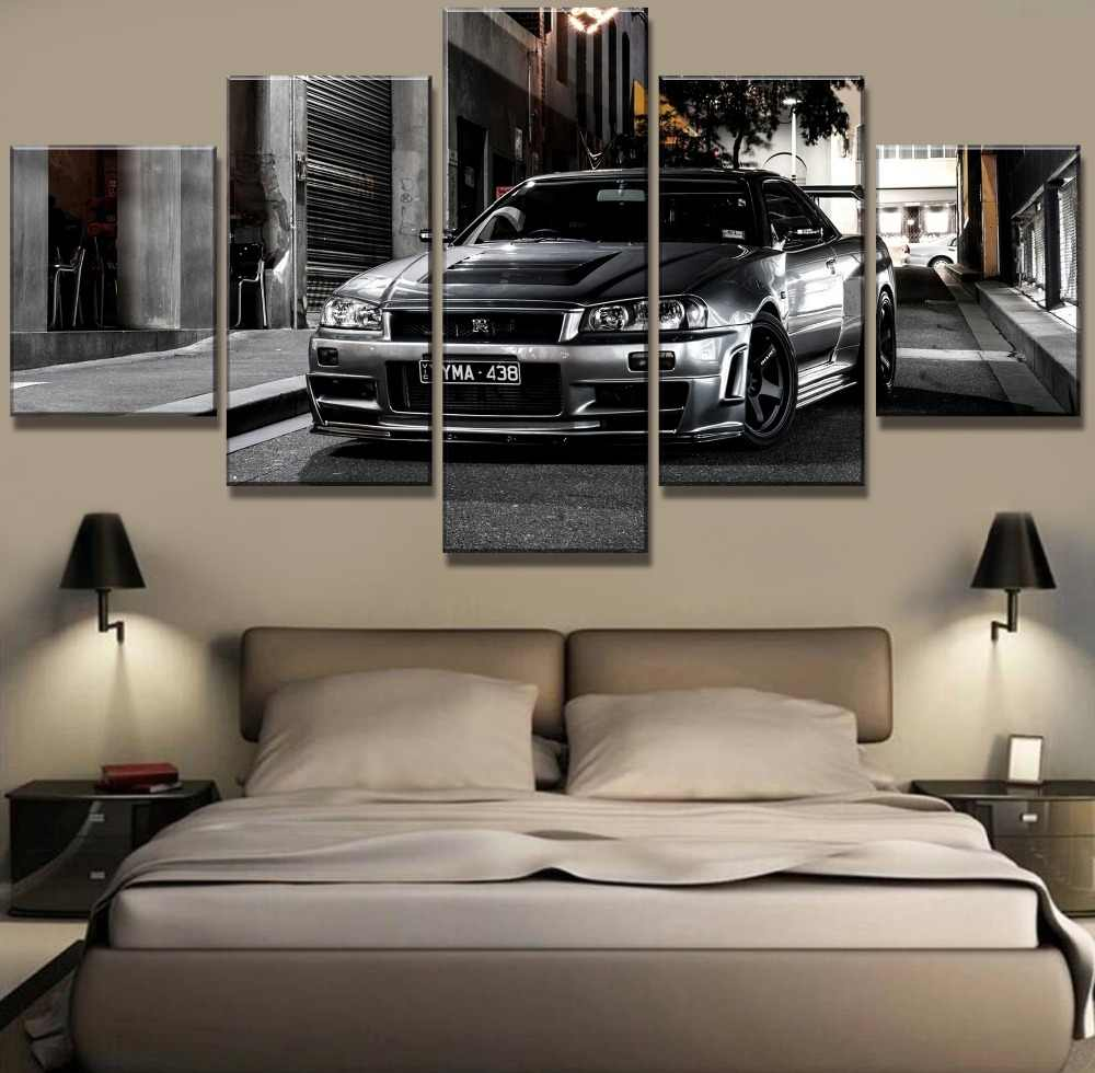 5 Piece HD Print Large Nissan Skyline Gtr Car Modern Decorative Paintings on Canvas Wall Art for Home Decorations Wall Decor