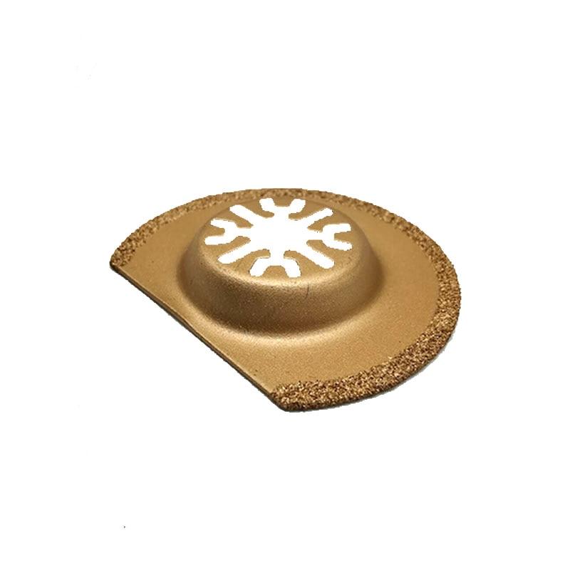"""עופרות להב היהלום טיטניום נדנוד רב כלי המסור 63 מ""""מ 1pc עבור כלי חשמל TCH Dremel Bosch פיין מכונות אוצר אוניברסלי (4)"""