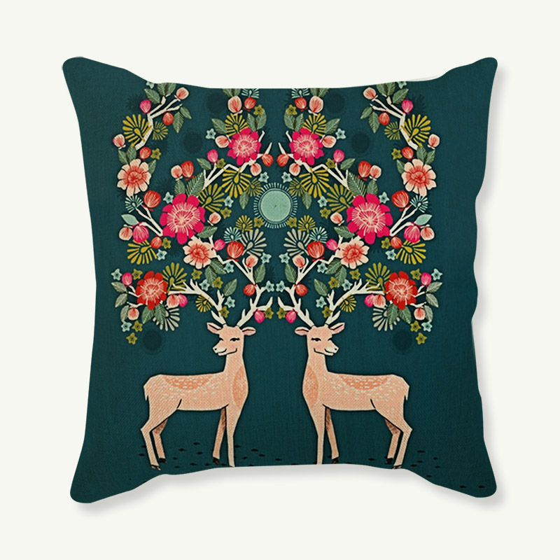 Merry Christmas Animal Small Pattern Decorative Throw
