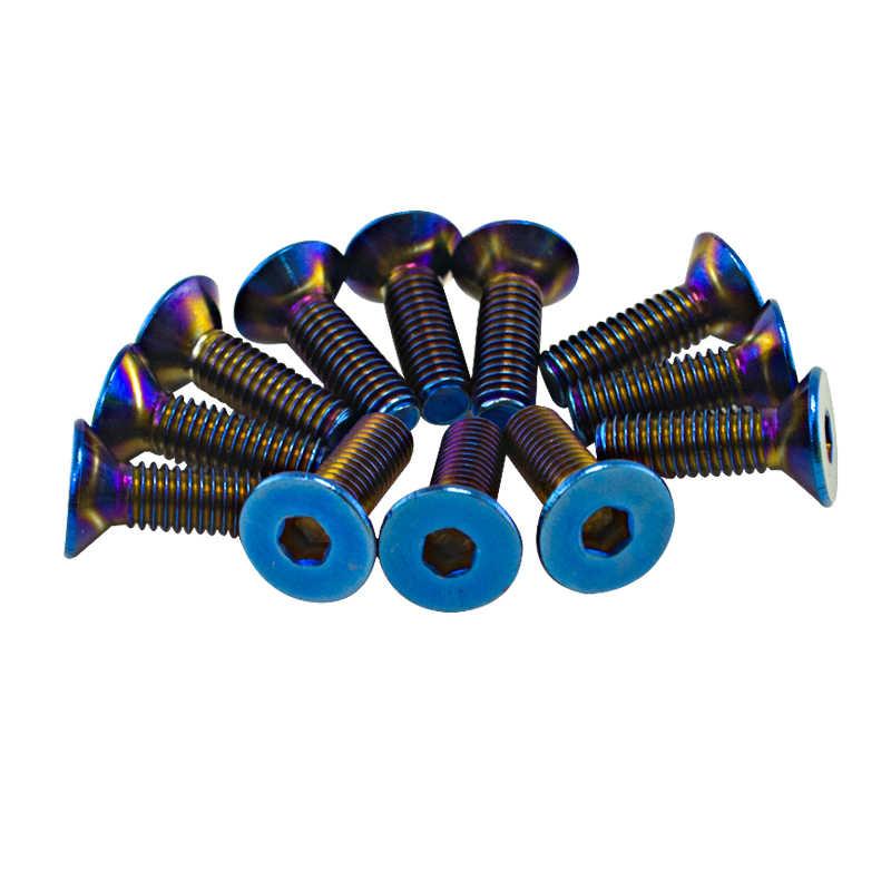 PQY - 6 개/몫 탄된 티타늄 스티어링 휠 볼트 스티어링 휠의 많은 적합 벨 보스 키트 PQY-LS06CR-T