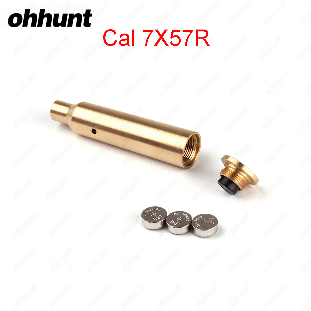 Ohhunt Hunting Rifle Scope Boresighter Collimator CAL.7x57R Cartridge Calibration Instrument Red Laser Accessories
