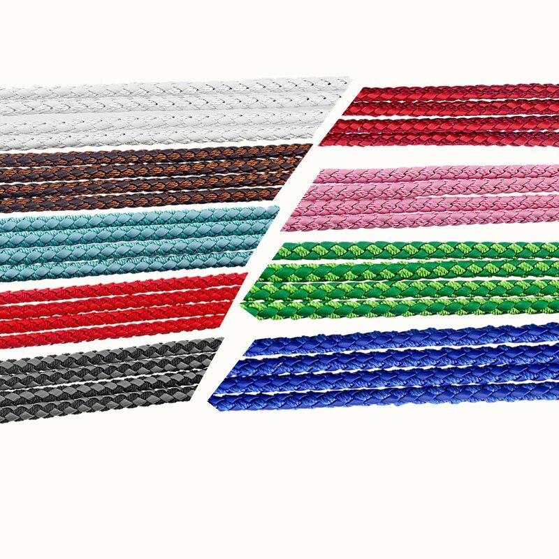 ▽5 meters/pack 5mm trenzado Faux cuero Cordón de seda disponibles ...
