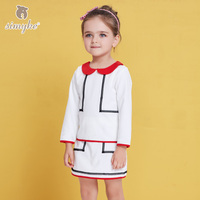 Simyke Girls Elegant White Sets 2018New 2pcs Set for Girl Shirt +Skirt Toddler Girl Spring Set Kids Clothes Kids Clothing J8339