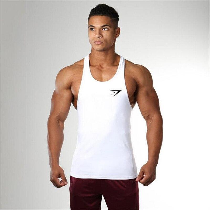GYMS Tank Top font b Mens b font Bodybuilding Stringer Power Vest Fitness Singlet Sleeveless Crossfit