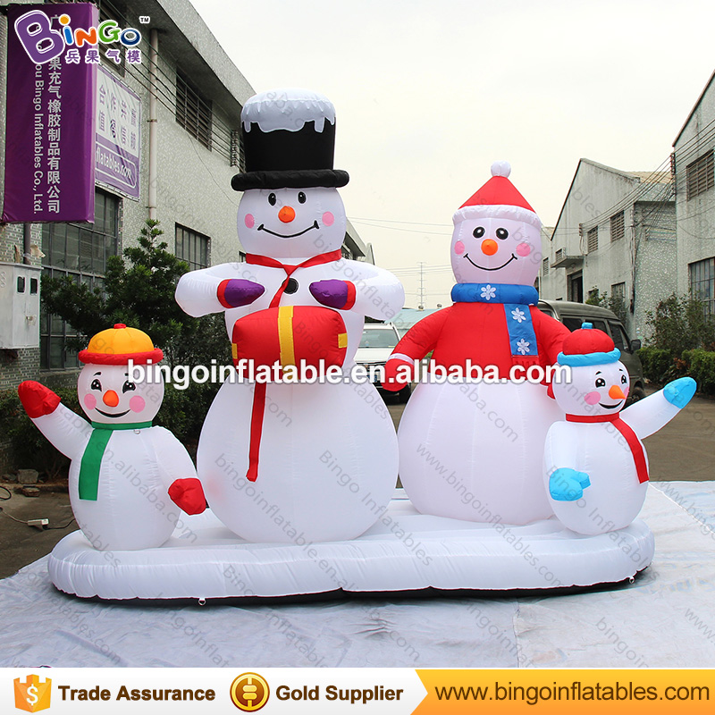 nightmare before christmas decor inflatable christmas snowman family holiday yard decoration 3m inflatable christmas 4 snowmans in inflatable bouncers from - Nightmare Before Christmas Inflatable Lawn Decorations
