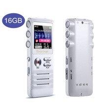 Escytegr 16GB شاشة ملونة صوت المنشط مسجل 1536KBPS تسجيل مسجل صوت رقمي MP3 مشغل موسيقى الدكتافون