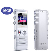 Escytegr 16GB renkli ekran ses aktif kaydedici 1536KBPS kayıt dijital ses kaydedici MP3 müzik çalar kulaklık