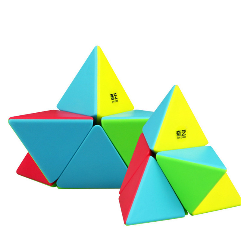 New QY Cube Qiyi Triangle Pyramid Magic Cube 2x2x2 Stickerless Puzzle Speed Cubes For Kids Toys Gift Children Education Toy