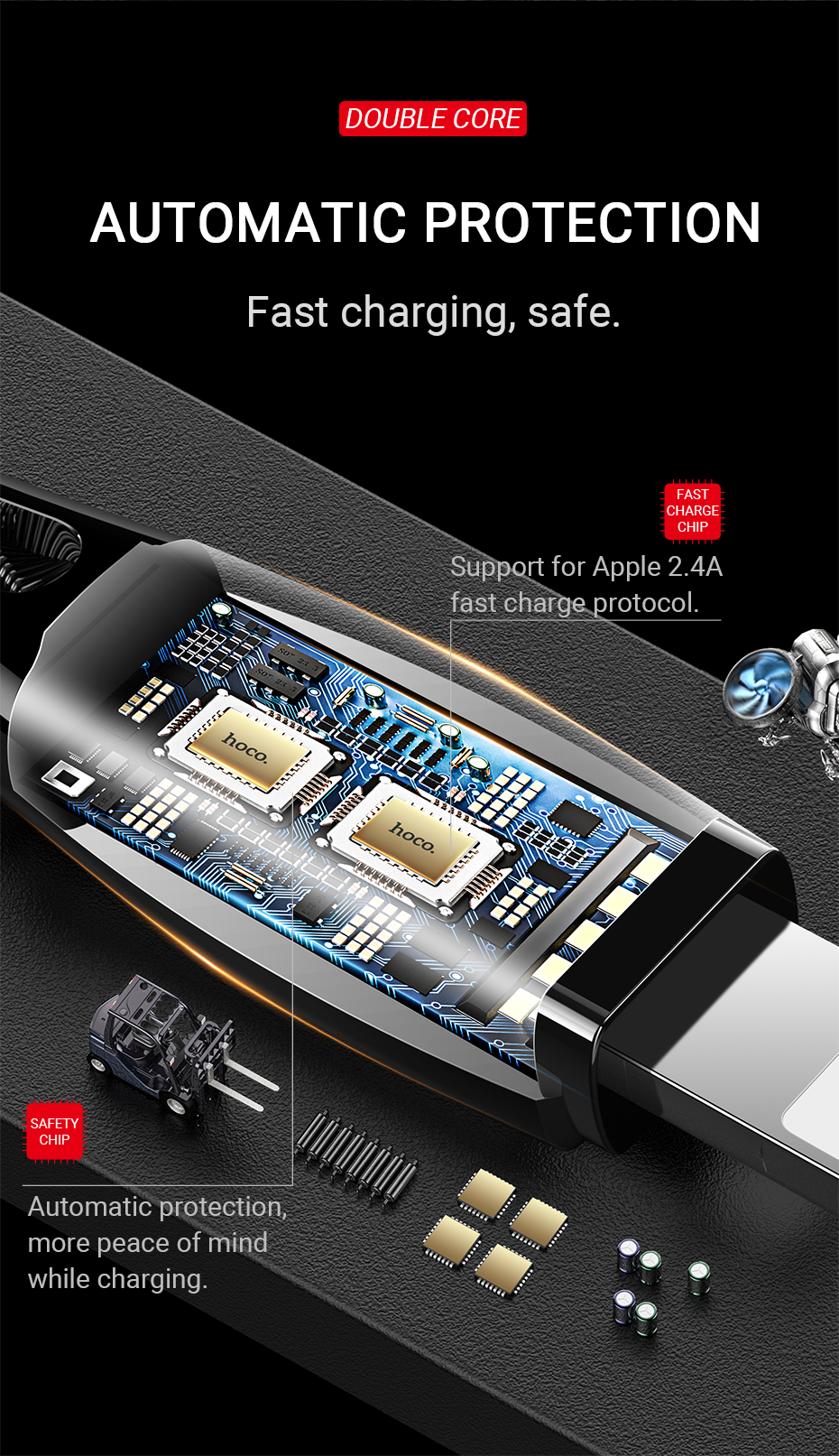hoco-u56-metal-armor-charging-data-cable-for-lightning-protection