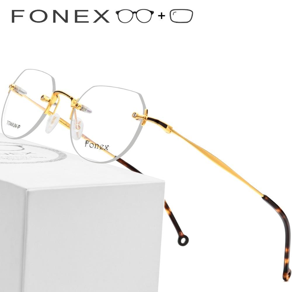 Rahmen Ultraleicht Optische Myopie Titan Männer Polygon Brillen Schraubenlose Frauen Koreanische Reinem Randlose zISHx