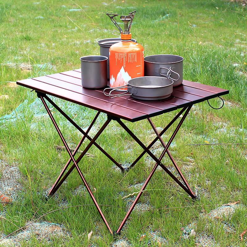 Portable Foldable Desk Camping Outdoor Picnic 6061 Aluminium Alloy N9L9