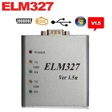 ELM327 USB Металла Алюминиевый ELM 327 Металлический Корпус Elm 327 USB V1.5/V1.5a Поддержка Все OBDII Протоколы OBD2 Авто Диагностический сканер