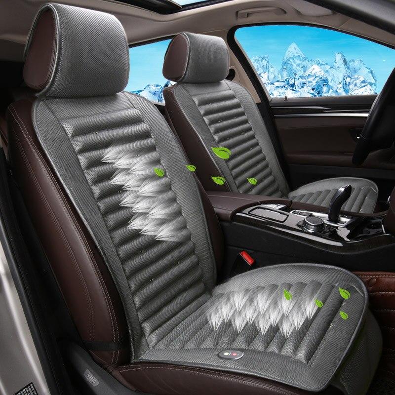 Mits Luxe 12 V Zomer Auto Zitkussen Luchtkussen Met Ventilator Zitkussen Autostoel Cooling Vest Koele Zomer Ventilatie Kussen