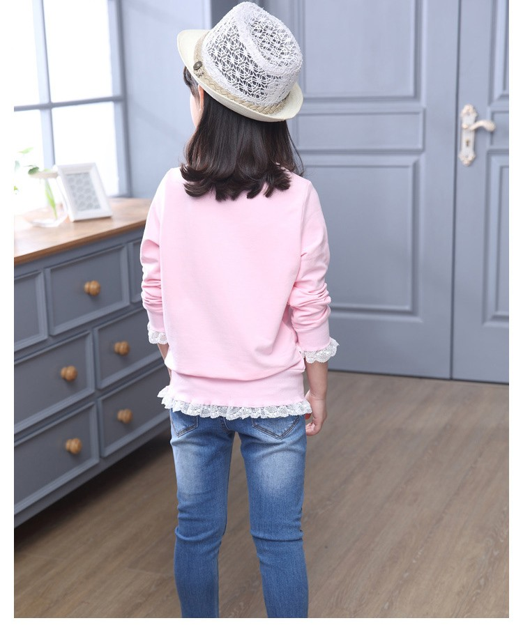 2016 new arrive sequined rebbit charatcer gray pink girls sweatshirt spring long sleeve kids clothes girls tops clothes 8 10 12 14 years girls clothing  6 7 8 9 10 11 12 13 14 15 16 children clothing (11)