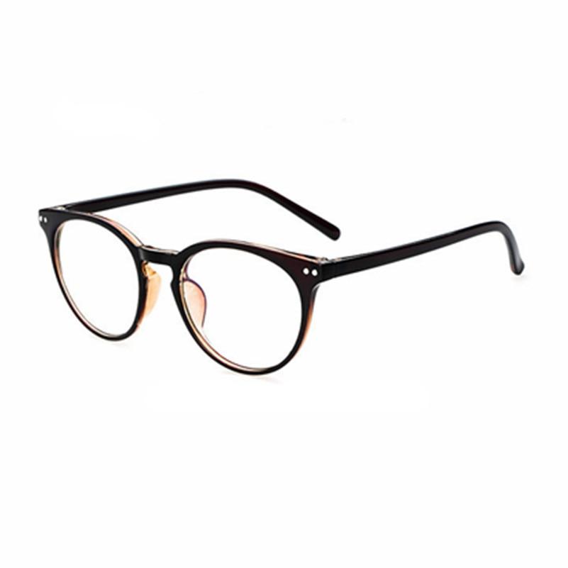 2017 grandes de la moda gafas marco hombres mujeres Retro Vintage  decorativos sin lentes cristal redondo marco oculos de Grau 76737bd4c6