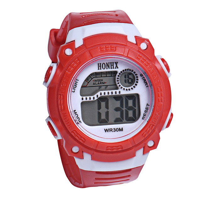 #5001Children Girls Digital LED Quartz Alarm Date Sports Wrist Watch DROPSHIPPIN