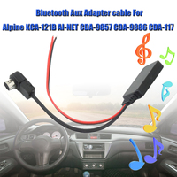 Car Aux Cable bluetooth Aux Adapter Cable Car Speaker Cable For Alpine 121B 9857 9886 117 Smartphone to Car Stereo to Stream|Cables  Adapters & Sockets| |  -