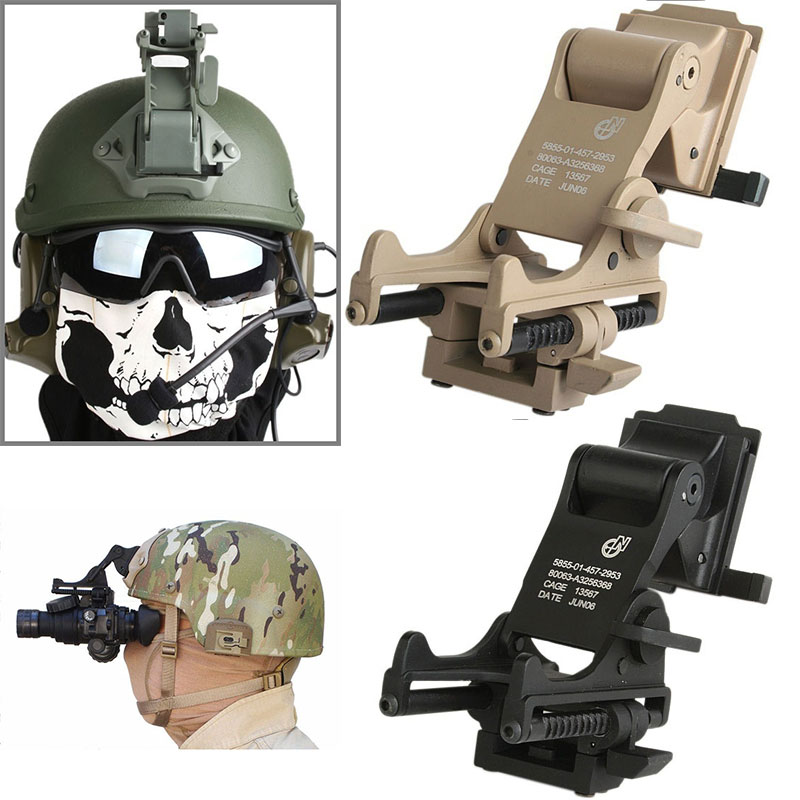 Top Quality Airsoft Paintball NVG PVS-7 PSV-14 Rhino Mounts Emerson Night Vision Goggle Helmet Arm Mount Hunting Helmets Accesso