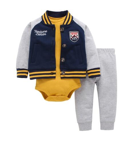 Free Ship Children Baby Boy Girl Clothes Set ,kids Bebes Clothing Set ,Football, Baseball Newborn Baby Boy Casual Wear