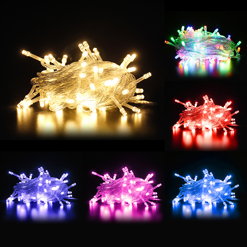 1M 2M 3M 4M 5M 10M Copper Wire LED String lights Waterproof Holiday lighting For Fairy Christmas Tree Wedding Party Decoration