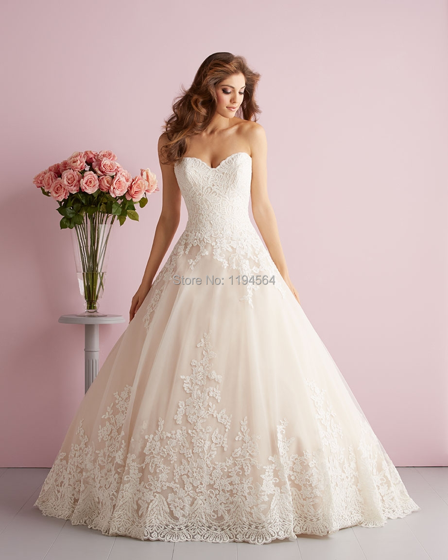2017 Organza Ruffles Wedding Top Lace Sweetheart Bridal Gown Beading Low Back Wh422