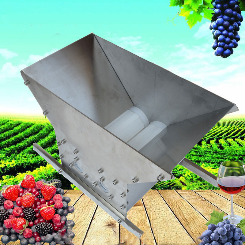 Fruit Crusher Double Rollers Portable Pulper Apple Scratter Cider Vin - Kök, matsal och bar