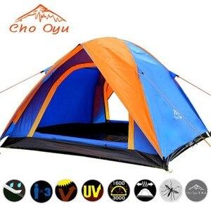 Image 4 - 3 4 אדם שובר רוח קמפינג אוהל שכבה כפולה עמיד למים אנטי UV תיירות לטיולים דייג חוף נסיעות 4 עונה אוהל