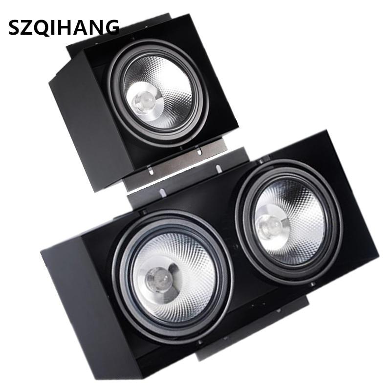 interior grade incorporado luz 15w 2x15w luzes cob led daring preto double headed eye anti