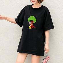 Summer Tshirt Mickey Mouse Cartoon Streetwear Print Short Sleeve Harajuku Casual Cotton Plus Size T Shirt Graphic Tees Women New
