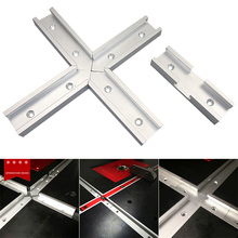 Newly 200mm Cross T-track Connector Set 30 Type T-slot Miter Track Jig Fixture Slot Connector XSD88