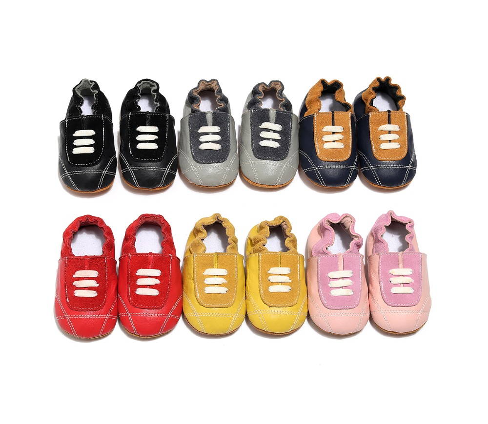 Fashion Baby Boy Girls Soft Genuine Leather Shoes Anti-slip Infant Sports Shoes First Walkers Toddler Baby Moccasins 0-24Months