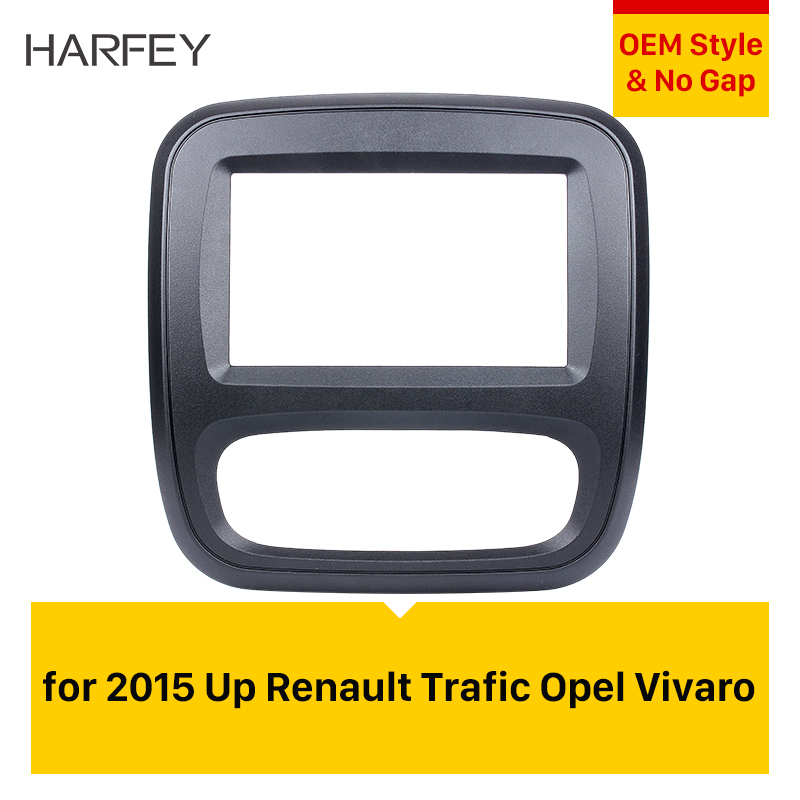 Harfey 2 Din For 2015 Up Renault Trafic Opel Vivaro DVD Panel Dash Kit Car Radio Fascia Auto Stereo Installation Dashboard Panel image