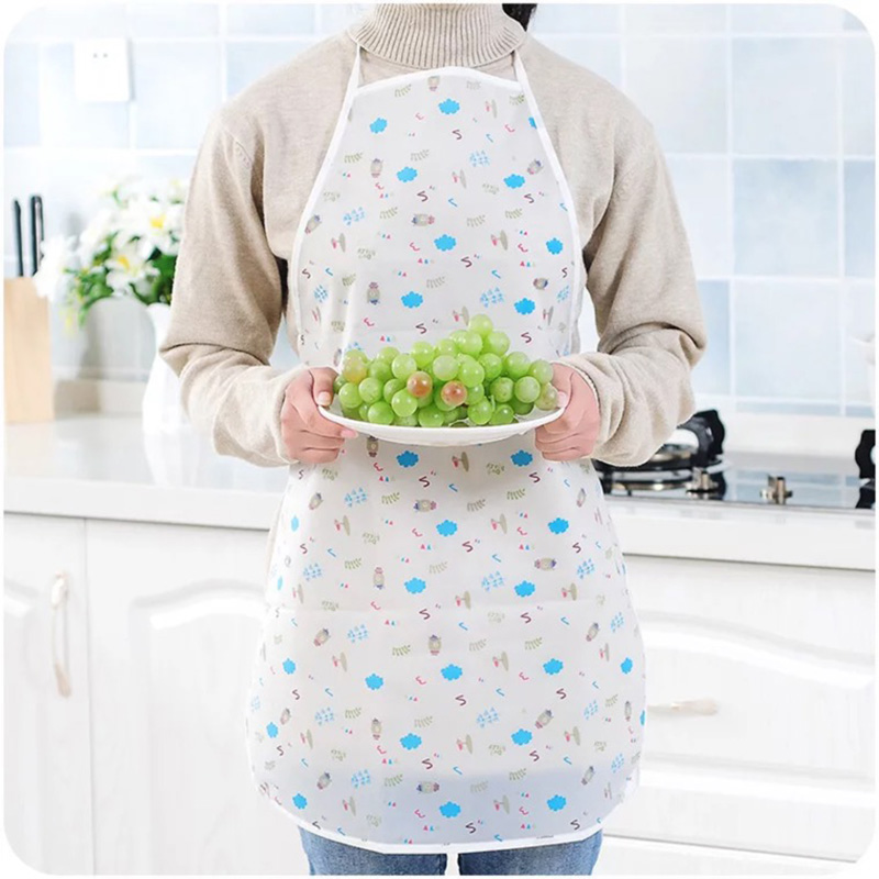 Cartooncute child kids apron set Kitchen art Baking Painting PE Waterproof