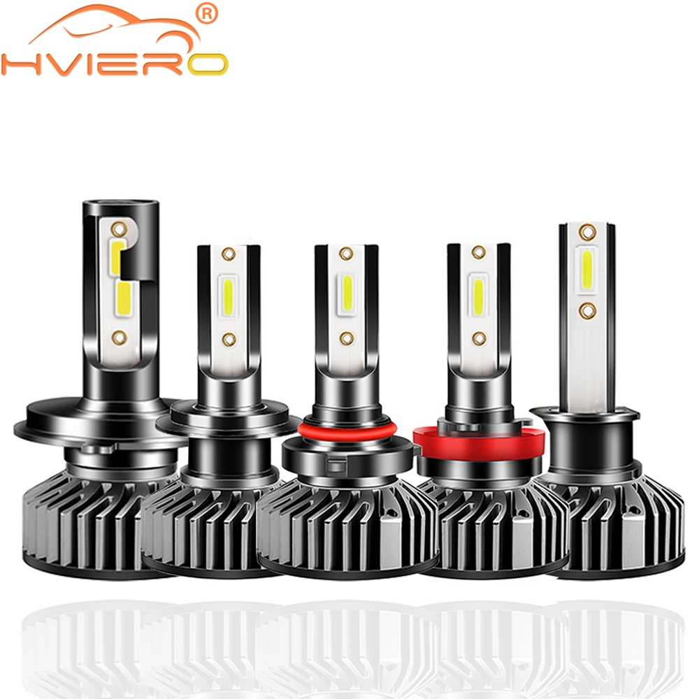 2X F2 COB CSP H4 H7 H1 9005 HB3 9006 HB4 H8 H9 H11 Auto światła samochodowe LED reflektor 12V 10000LM 6500K reflektor żarówka do lampy przeciwmgielnej