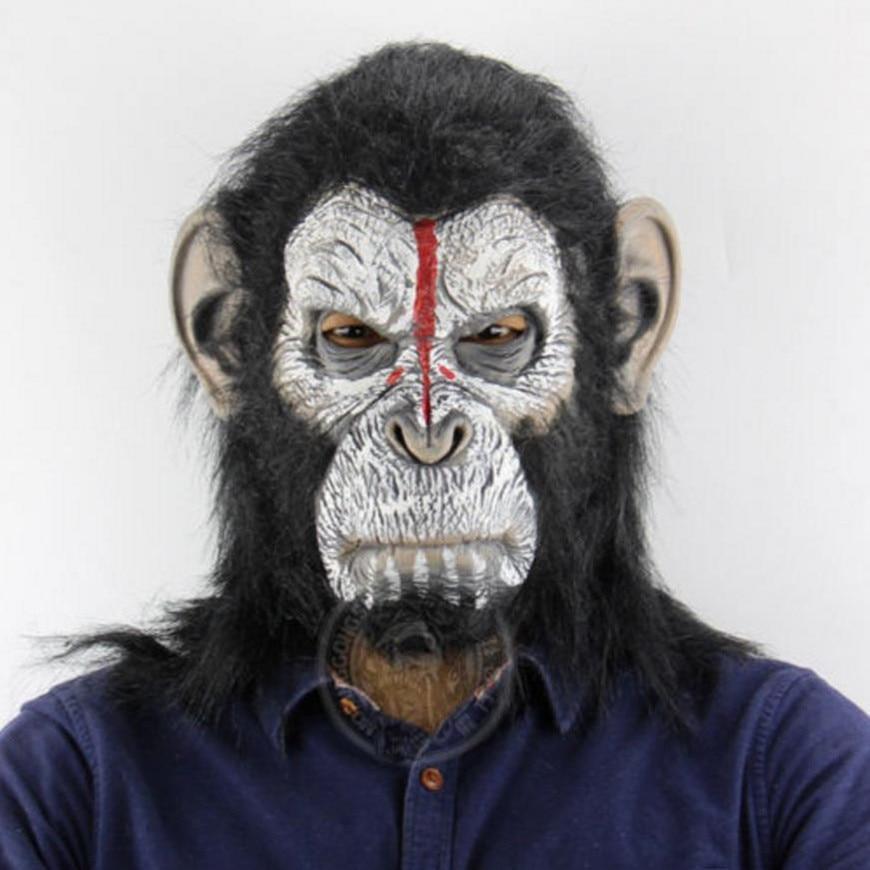 Guerra para el planeta de los simios Cosplay Caesar mscara gorila