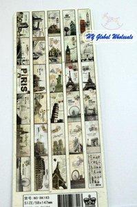 Image 4 - 12 مجموعات/وحدة جديدة خمر باريس الذاكرة المرجعية مجموعة الكرتون كتاب علامات هدية لطيفة boormark مجموعة لطيفة card30 ورقة لكل مجموعة بالجملة