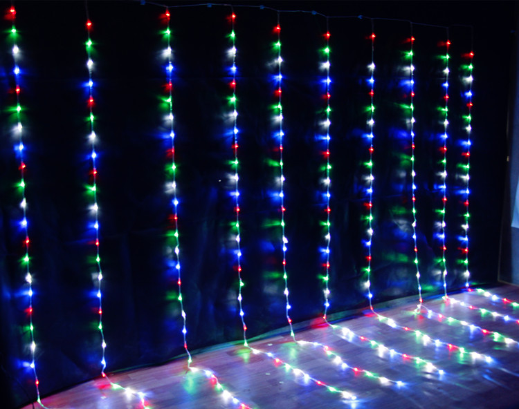IWHD 6x3M Waterfull Garland LED Christmas Lights 110V 220V Fairy lights Cristmas Decorations Wedding Party LED Luces De Navidad