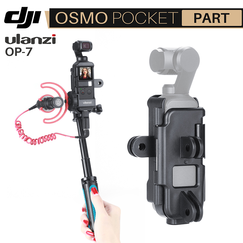 Ulanzi OP-7 Vlog Case Housing For DJI Osmo Pocket Extemd Mount Adapter With 1/4 Screw Cold Shoe For Microphone LED Light